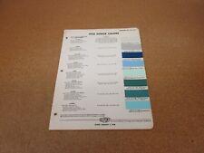 1956 Dodge car truck exterior paint color chip chart sheet sample