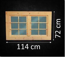 Fenster Holzfenster Gartenhaus Gartenhausfenster Doppelfl.  114 x 72 cm **NEU**