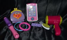 Dress Up Play Pretend Girl 8 Piece Set Cell Phone Hair Dryer Curler Straightener