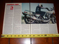 1981 HONDA CBX - ORIGINAL ARTICLE