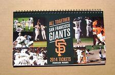 2014 San Francisco SF Giants Full Season Ticket Book Complete 81 Tix