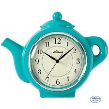 Atlanta 6125/6 Horloge de Cuisine murale Quartz Analogue Motif Pot Turquoise