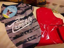 Camouflage Dog T Shirt And Raincoat  Size S New
