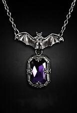Restyle Halskette Night Whisper Lila Vampire Bat Necklace Fantasy Gothic Wings