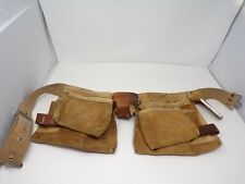 Nicholas 427 leather Construction contractor tool belt w pockets holders 361