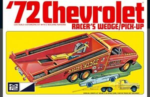 MPC 885 1972 Chevy Cheyenne Pickup Ramp Truck Racer's Wedge 2n1 kit 1:25 PRESALE
