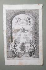 Gravure XVIIème - Frontispice - Delicia Domini Nec Quid Sperare Habebat