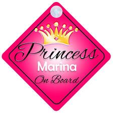 PRINCESS MARINA A BORDO PERSONALIZZATA Girl Auto Firmare Bambino Regalo 001