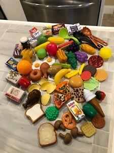 Large Lot -Pretend Play Kitchen Food & Utensils Variety Food 68pcs