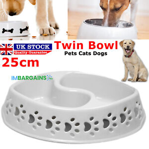 Dog Bowl Non Slip Solid Plastic Indoor Outdoor Puppy Dish Water Food Feeding