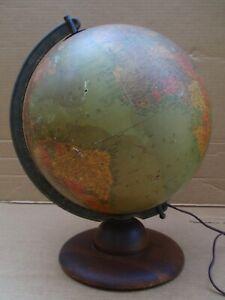 "Vintage Lighted Replogle 12"" Precision World/Earth Globe"