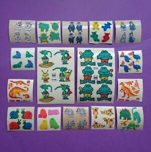 Stickersammlung 16x Stickeralbum Sticker Vintage 90er Jahre Set Stoff Fuzzy