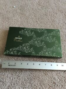 Rolex  Cellini VIP Novelty Long Wallet  Leather Green Very Rare!