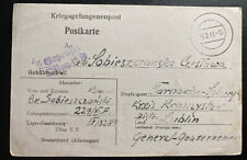 1941 Germany Oflag 2B POW Prisoner of War Postcard Cover To Lublin GG Poland