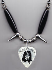Alice Cooper Keri Kelli Signature White Pearl Guitar Pick Necklace - 2011 Tour