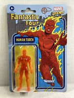 Hasbro Marvel Legends Retro Human Torch Kenner 3.75 New Figure Fantastic 4 2021