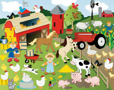 12 Design Your Own Cute Farm Animal Sticker Scenes for Kids