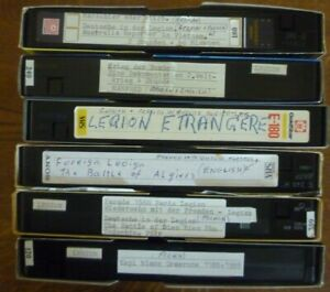 PRE-RECORDED VHS PAL Video Tapes x 6 French Foreign Legion, Vietnam