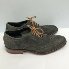 Cole Haan Shoes Lace Up Oxfords Men Size 9M Gray Suede Upper