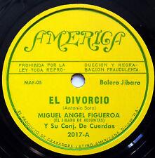 MIGUEL ANGEL FIGUEROA Latin 78 El Divorcio / Vals De La Despedida AMERICA label