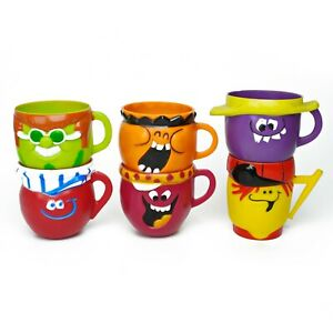 Vintage 1969-74 Pillsbury Funny Face Mugs - Lot of 6