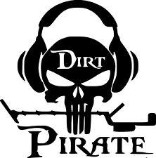Vinyl Decal Sticker Custom Car Truck Window Dirt Pirate Metal Detecting Skull