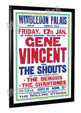 Gene Vincent Concert Poster Wimbledon Palais 1964