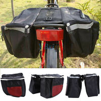 25L Cycling Rack Back Rear Seat Large Storage Bag Bicycle Carrier Double Pannier