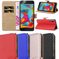 CASE FOR SAMSUNG GALAXY A2 CORE REAL GENUINE LEATHER SHOCKPROOF WALLET FLIP