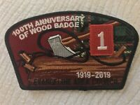 Wood badge 100 Anniversary CSP And Atchafalaya Lodge 563 Flap Order Of The Arrow