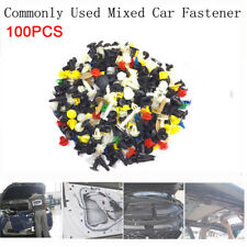 100pcs Universal Plastic Clips for Car Fender Bumper Door Car Interior Surface--