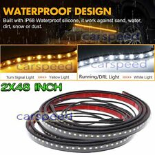 "48"" LED Running Board Light Kit Side Step DRL Strip For Dodge Ram 1500 2500 3500"