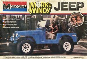 Monogram 2261 1/24 Scale Mork & Mindy TV Show Jeep Plastic Model Kit