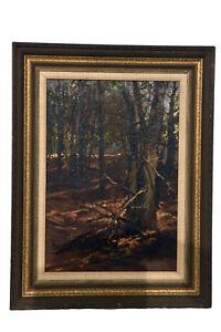 Original Oil Painting on Wood, Signed Ted Goerschner