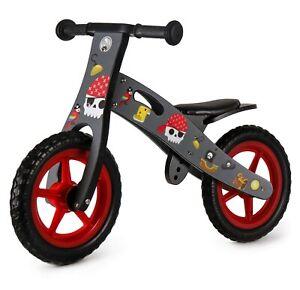 Nicko NIC877 Pirate Children's Kids Boys Present Wooden Balance Bike 2-5 Years