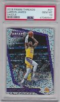 2018 Panini Threads #47 Dazzle Lebron James PSA 10 Gem Mint Los Angeles Lakers