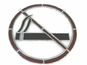 Vintage No Smoking Sign Stained Glass