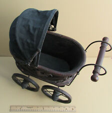Vintage Child's Baby Toy Doll Pram Carriage; Antique and In Good Condition