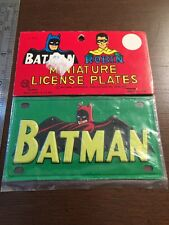 Vintage Marx Batman License Plate, mint in package, 1966 Batman Robin