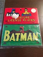Vintage Marx Batman License Plate, mint in package, 1966 Batman Robin