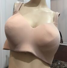 Lunaire Wire Free Seamless Bra Foam Lined Cup Full Coverage 1431H Nude Size 42C