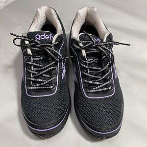 G-Defy Gravity Defyer Mighty Walk Athletic Shoes Black Purple Womens Size 10