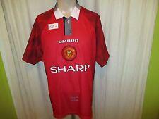 "Manchester United Original umbro Heim Trikot 1996/97 ""SHARP"" Gr.L"