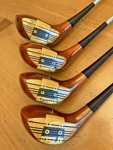 Vintage Tommy Armour Tourney Eye-O-Matic 653 Persimmon Woods  Set 1 3 4 & 5