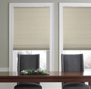 """Real Simple Cordless Blackout Cellular Shade - Sand - Size: 32"""" x 64""""-OPEN BOX"""