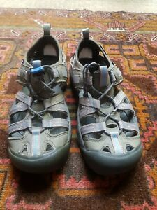 KEEN closed toe sandals Womens 7US Tried on never worn GREY/blue