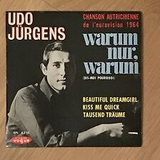 Vinyle 45 Tours - Udo Jürgens – Warum Nur, Warum - EPL8218 - EP - Rpm
