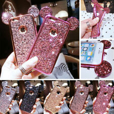 Luxury Glitter Bling Mickey Mouse Ears Soft Case Cover for iPhone Samsung Galaxy