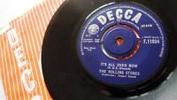 ROLLING STONES ITS ALL OVER NOW c/w GOOD TIMES BAD TIMES DECCA RECORDS 1964