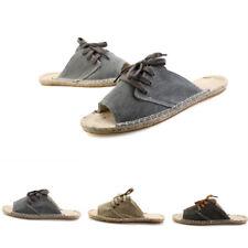 Men's Open Toe Flat Fisherman Canvas Outdoor Slip On Slippers Comfortable Chic 6